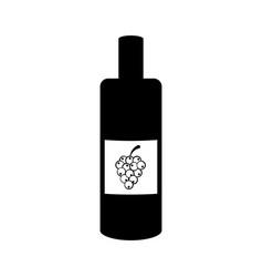 isolated wine bottle icon vector image