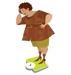 Lady on scales vector