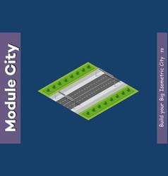 landscape speed highway vector image