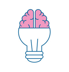 Light bulb brain idea vector