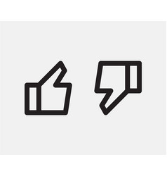 like icon line design for media or network thumb vector image