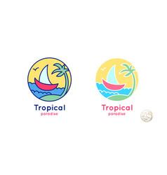 logo set sailboat vector image