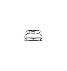 mattress mono line logo designs inspiration vector image
