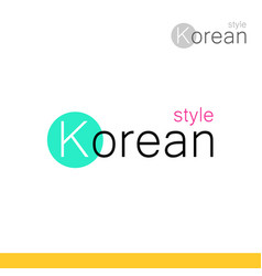 modern style logotype for business in korea with vector image