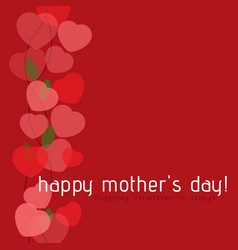 Mothers day card - shrub from hearts and text vector