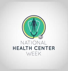 national health center week logo icon vector image