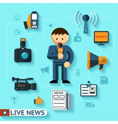 News and mass media vector