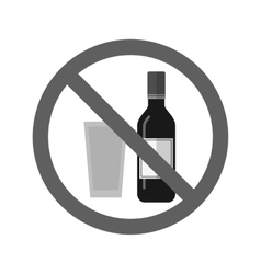 No Drinks vector image