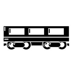 passenger carriage icon simple style vector image