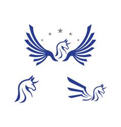 pegasus logo template d vector image