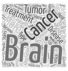 Prevent brain cancer alternative treatment text vector image