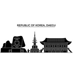 republic of korea daegu architecture city vector image