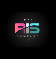ris r i s three letter logo icon design vector image