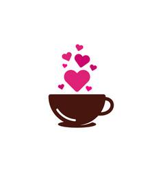 Romance coffee logo icon design vector