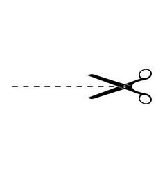 Scissor icon with line cut mark scissors vector