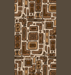 seamless texture with tribal doodle pattern from vector image