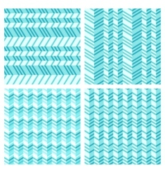 set geometrical seamless flat pattern vector image