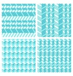 Set of geometrical seamless flat pattern vector image