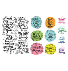 set of inspirational quotes thematic vector image