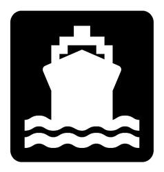 Ship Sign vector image