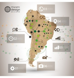 South America map infographic design for vector image
