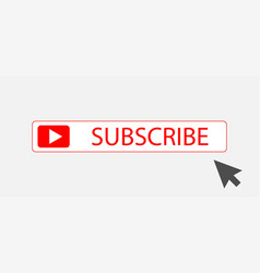 subscribe button with arrow subscribe icon symbol vector image