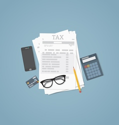 Taxes vector image