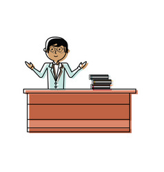 teacher man vector image