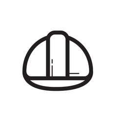 Thin line safety helmet icon vector