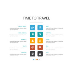 time to travel infographic 10 option concepthotel vector image