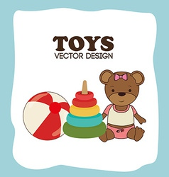 Toys design over blue background vector image