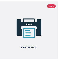 Two color printer tool icon from technology vector