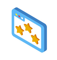 User review isometric vector