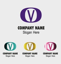 V logo Company name icon letter V vector
