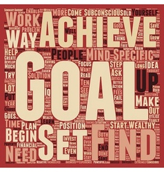 Why is it important to set goals text background vector image