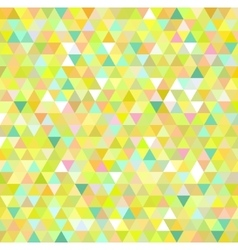 Yellow triangle pattern background vector image