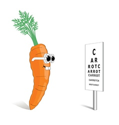 carrot for good vision vector image