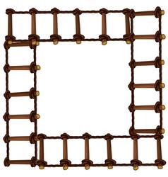 frame design with wooden ladder vector image