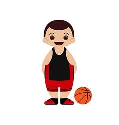 Cartoon basketball player vector image