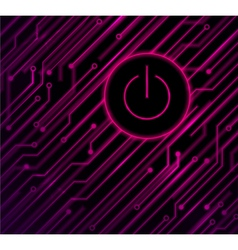 circuit on off background vector image