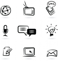 communication technology icon vector image