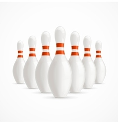Group of White Bowling Pins vector image