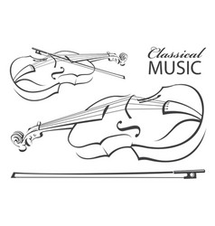 image of violin vector image