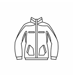 Men winter jacket icon outline style vector image vector image