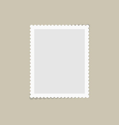postage stamp for postcard vector image