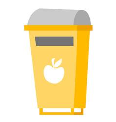 Rubbish bin for food waste vector