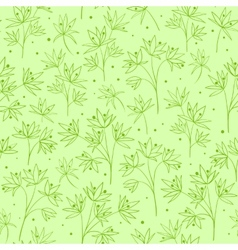 Beautiful line flowers on green vector image