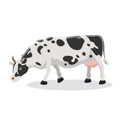 cartoon cow farm animal vector image