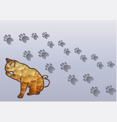 cat and cats traces vector image vector image