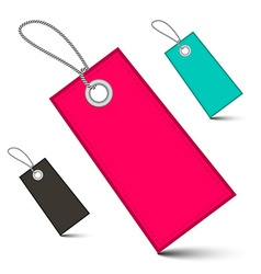 Empty Labels with Strings vector image